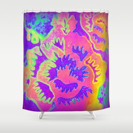 Neon Fantasy Shower Curtain