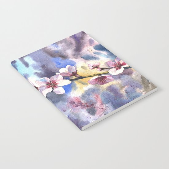 Blossoming almond Notebook