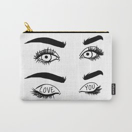 Love You Eyes Carry-All Pouch