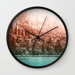 Forest Lake Gradient Wall Clock