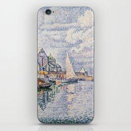 Paul Signac - Le Port De Barfleur iPhone Skin