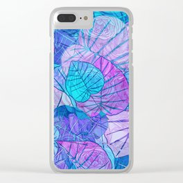 Leaves in Rosy Background Clear iPhone Case