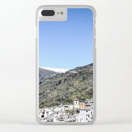 Pueblos Blancos with Sierra Nevada Clear iPhone Case