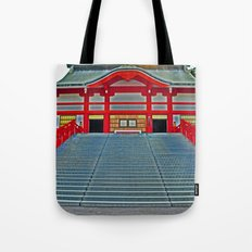 Red Temple Tote Bag