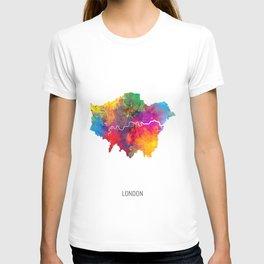 London Watercolor Map T-shirt