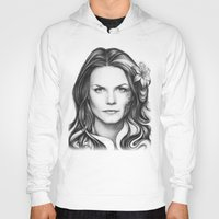 house md Hoodies featuring Dr. Cameron-House MD-Jennifer Morrison-Portrait by Olechka