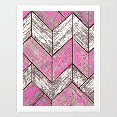 SHORELINE CHEVRONS (3 of 3) Art Print