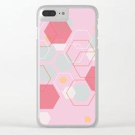 Hexagon Sweetarts Clear iPhone Case