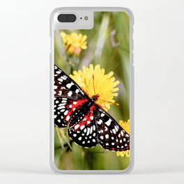 A Red Dotted Checkerspot Clear iPhone Case