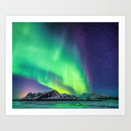 Northern Lights in Iceland Kunstdrucke
