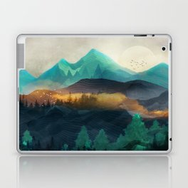 Green Wild Mountainside Laptop & iPad Skin