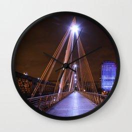Golden Jubilee Bridges, London Wall Clock