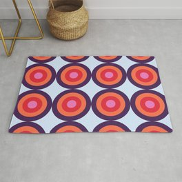 Lehua 16 - Colorful Classic Abstract Minimal Retro 70s Style Graphic Design Rug