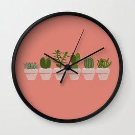 Cacti & Succulents Wall Clock