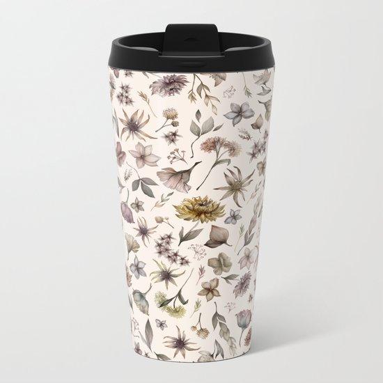 Botanical Study Metal Travel Mug