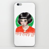 amelie iPhone & iPod Skins featuring Amelie by ARTEMYSA