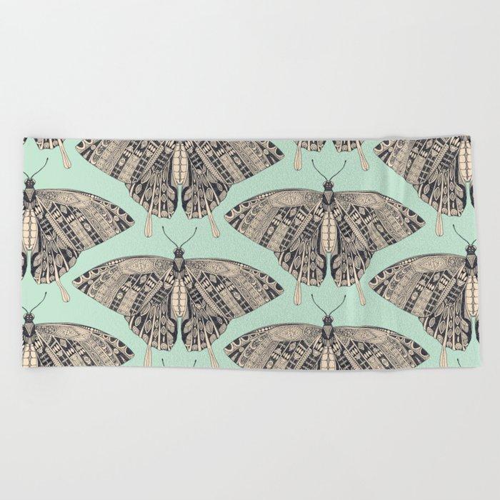 swallowtail butterfly mint basalt Beach Towel