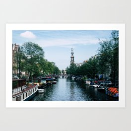 Down the Canal Art Print