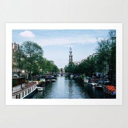 Down the Canal Art Print