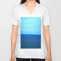 boat V-neck T-shirts featuring Boat ▲ by B.▲M.