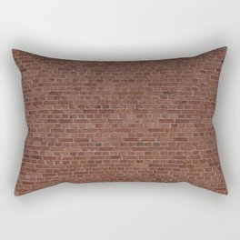 Brooklyn NYC Loft Apartment Brown Stone Brick Wall Rectangular Pillow