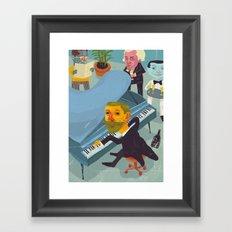 Amundsen's party Framed Art Print