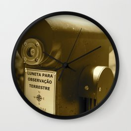 Spyglass to land observation Wall Clock