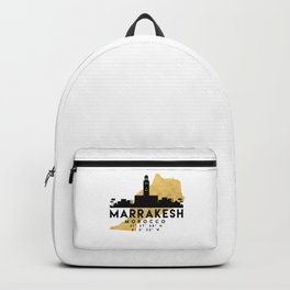 MARRAKESH MOROCCO SILHOUETTE SKYLINE MAP ART Backpack