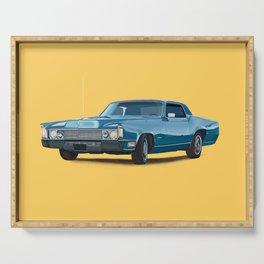 Vintage car solid colour Serving Tray