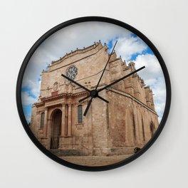Old Santa Maria Cathedral in Ciutadella - Menorca, Spain Wall Clock