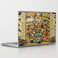 beastie boys Laptop & iPad Skins featuring Beastie Boys Wow! Wow! Wow! Remix Tape Cover by Jeff Drew Pictures
