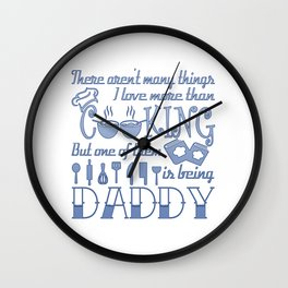 Cooking Daddy Wall Clock