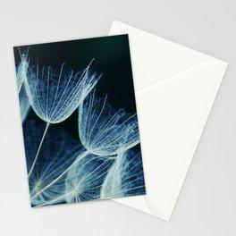 Elegant Dandelion Seeds Macro Abstract Stationery Cards
