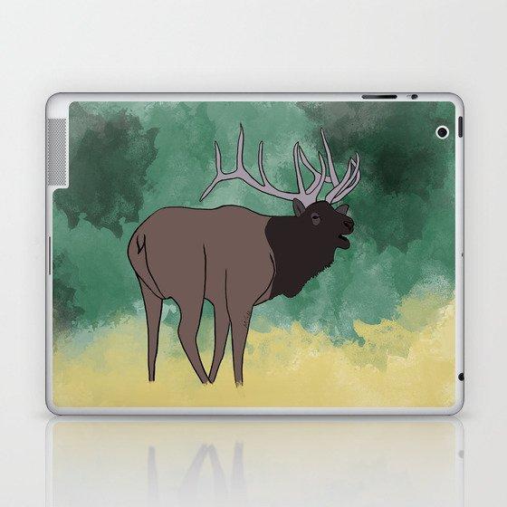 Bull Elk Bugling Laptop & iPad Skin