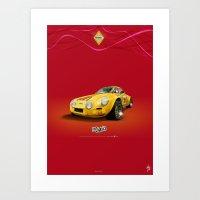 ROJO (OSCURO) · Renault Alpine Art Print