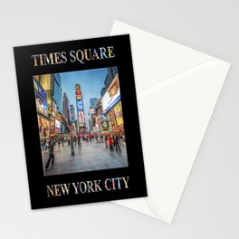 Times Square Sparkle (with type on black) Stationery Cards