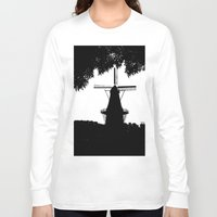 moulin rouge Long Sleeve T-shirts featuring Moulin Noir by Klaudia