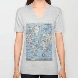 A Really Nice Map Unisex V-Neck