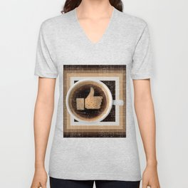 Coffee Unisex V-Neck