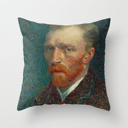 Vincent van Gogh Self-Portrait Throw Pillow