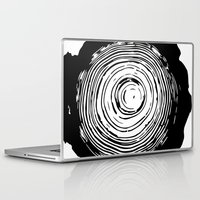 tree rings Laptop & iPad Skins featuring Tree Rings by vogel