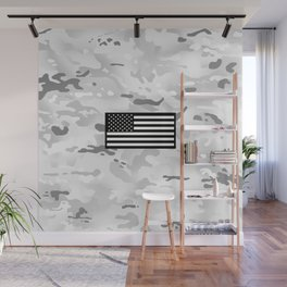 Arctic Camouflage: Black Flag Wall Mural