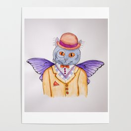 Mister Meowstein Poster