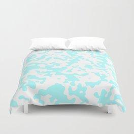 Spots - White and Celeste Cyan Duvet Cover