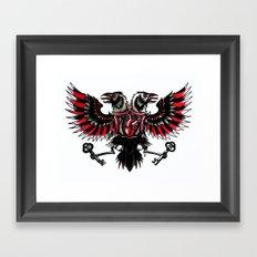 Tattoo Crow Framed Art Print
