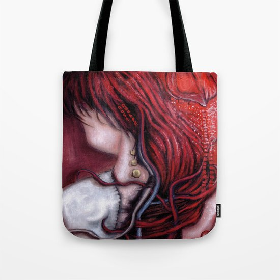 my heart soars like a blood red artifact Tote Bag