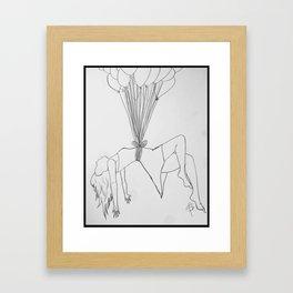 Floating Femme. Framed Art Print