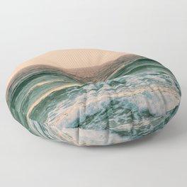 Pink Skies Ocean Vibes Floor Pillow