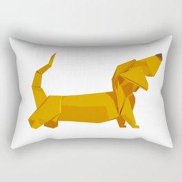 Origami Basset Rectangular Pillow