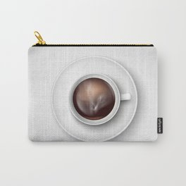 cup of coffee on a white background Carry-All Pouch